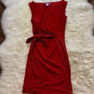 Diane von Furstenberg Red Wrap Dress Size 0